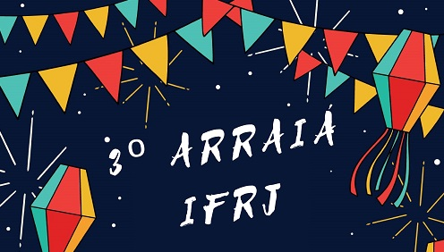 cartaz de festa junina, escrita em branco