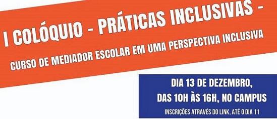 cartaz branco, laranja e azul, escrita em branco