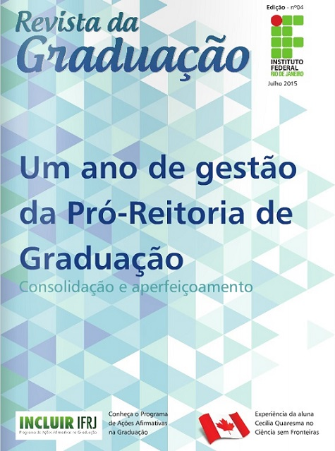 Capa da 4ª Edição da Revista Graduação