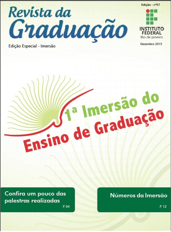 Capa da 7ª Edição da Revista Graduação