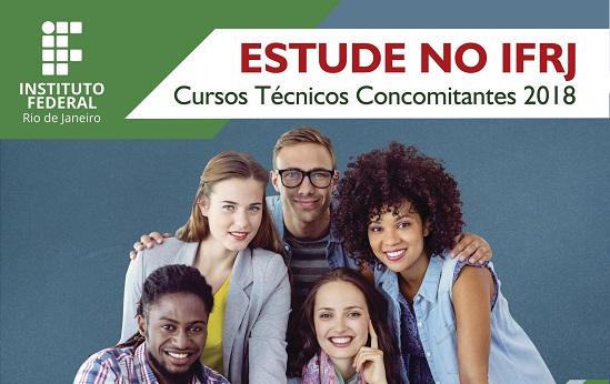 cartaz divulgação cursos Técnicos Concomitantes/Subsequentes 2018.1