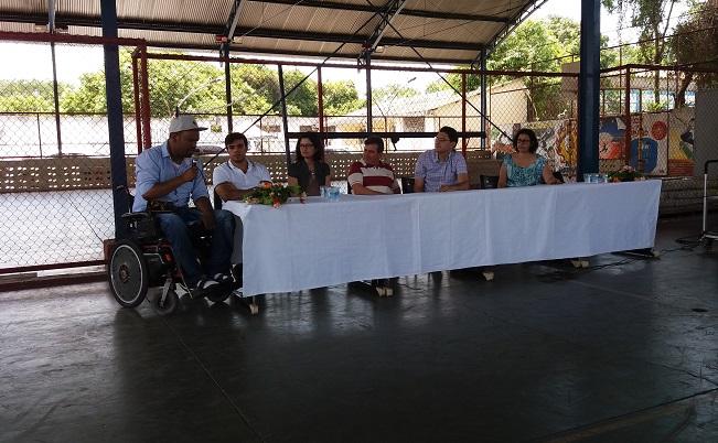 mesa de abertura na quadra do campus Volta Redonda