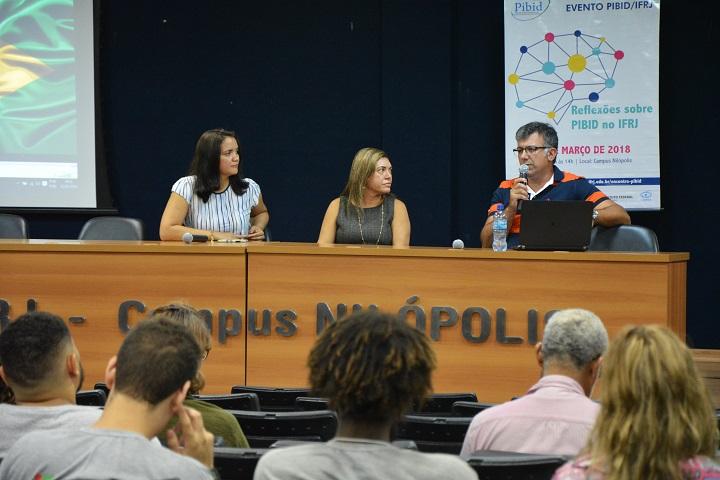 Participantes da mesa de abertura