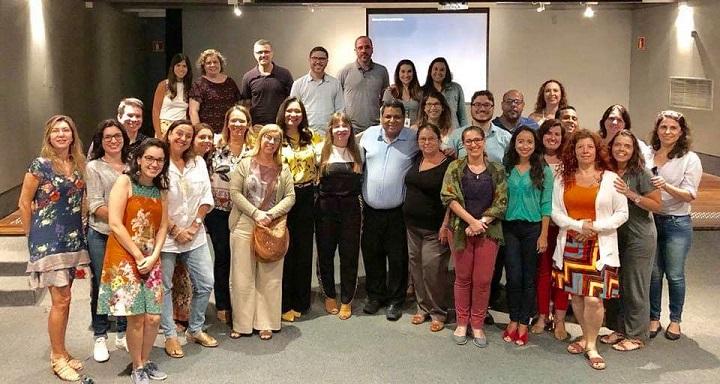 foto com os coordenadores dos cursos de pós-graduação lato e stricto sensu do IFRJ