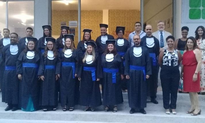 cerimônia de colação de grau simbólica da turma do curso Técnico em Segurança do Trabalho.