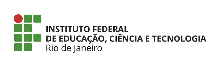 logo horizontal do ifrj verde e vermelha, escrita em preto