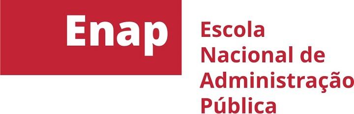 Logo da Enap em vermelho
