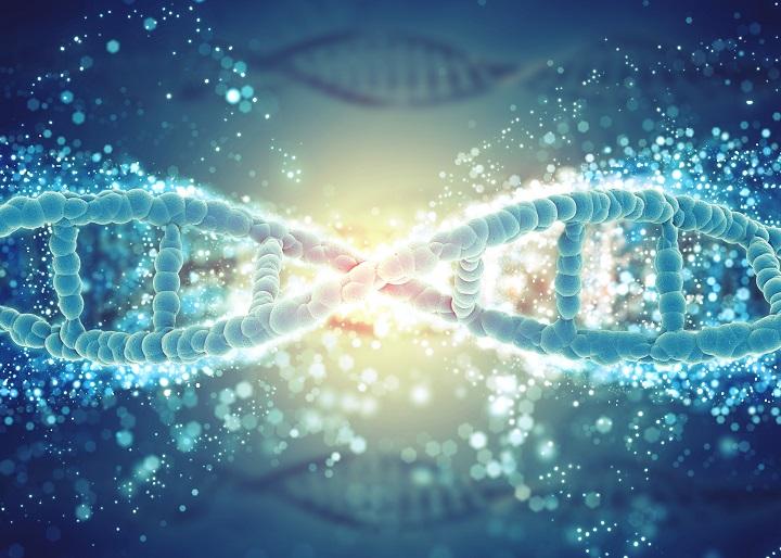 ilustração 3d de uma cadeia de DNA