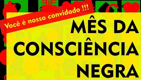 cartaz amarelo, verde e vermelho, escrita em preto