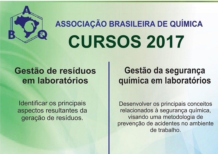 Imagem com fundo verde e nome dos cursos oferecidos