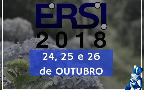 Logo do evento em azul marinho, com a data do evento