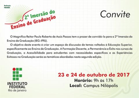convite verde, escrita em preto