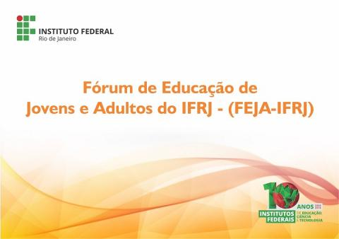 convite EJA com a logo do IFRJ e a logo dos 10 anos da criação dos institutos federais