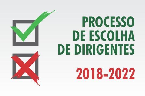 processo de escolha de dirigentes 2018-2022