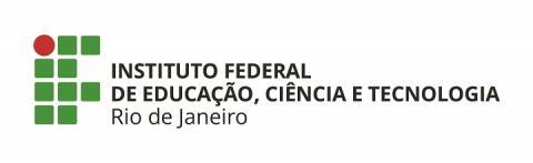 logo do IFRJ, escrita em preto, arte em verde e vermelho